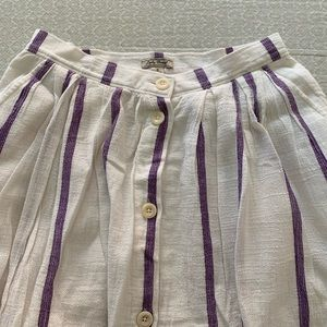 Purple striped skirt. Perfect condition